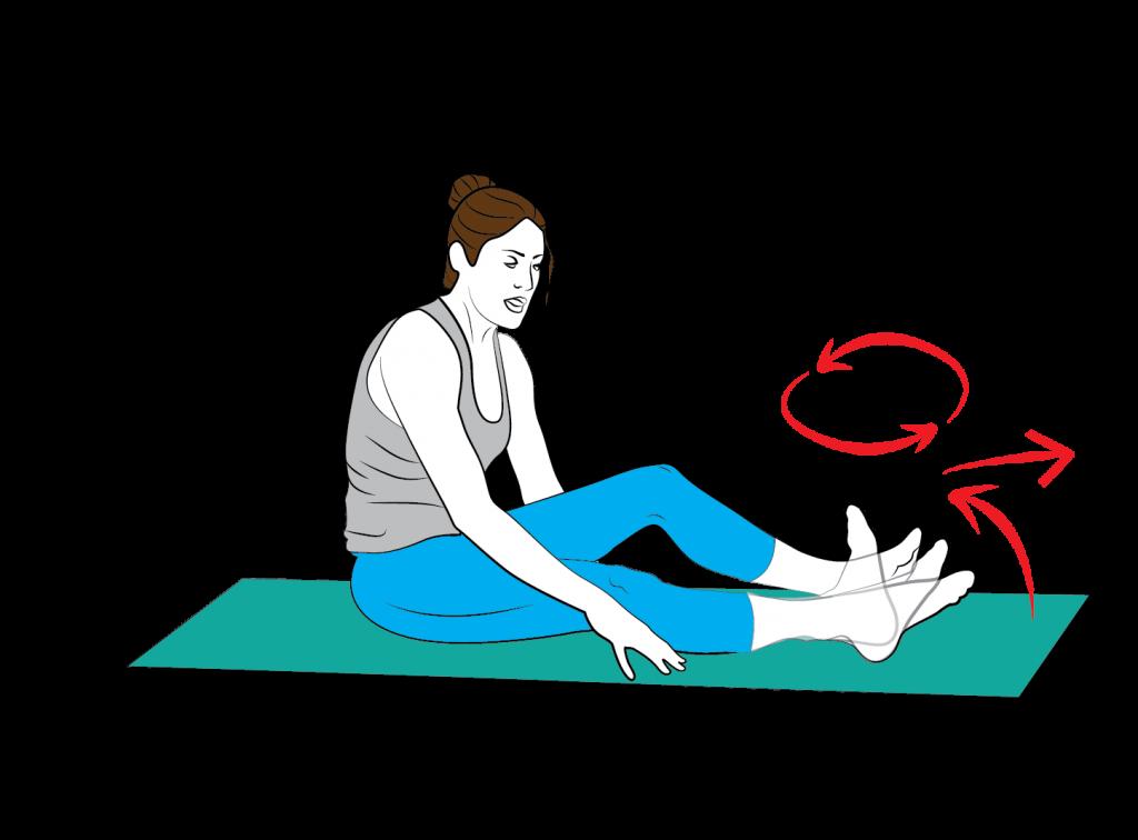 Cvik 1: Uvolnění hlezenního kloubu