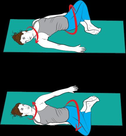 Cvik 1: Uvolnění páteře do rotace